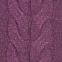 Womens Cashmere Sweaters: Dark Mulberry Ply Cashmere™ Crew Neck Pullover with Side Slit Sweater