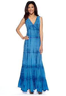 Grace Elements Sleeveless Tiered Maxi Dress