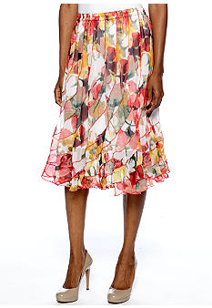 Grace Elements Print Swirl Skirt