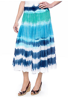 Grace Elements Striped Tie-Dye Skirt