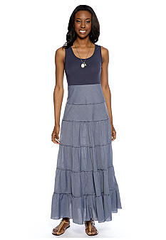 Grace Elements Chambray Maxi Dress