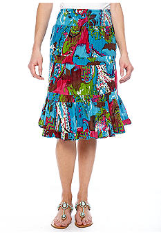 Grace Elements Printed Layer Skirt