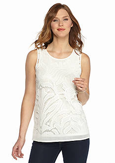 Grace Elements Sleeveless Lace Top