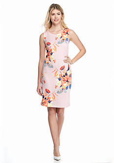 Melissa Paige Floral Scuba Sheath Dress