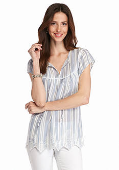 Grace Elements Striped Blouse