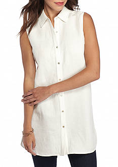 Grace Elements Collared Button Down Tunic