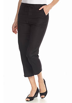 Grace Elements Solid Linen Capri Pants