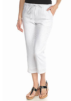 Grace Elements Railroad Stripe Linen Capri Pant