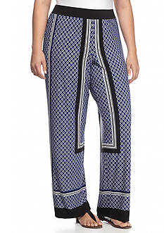 Grace Elements Plus Size Printed Soft Pants