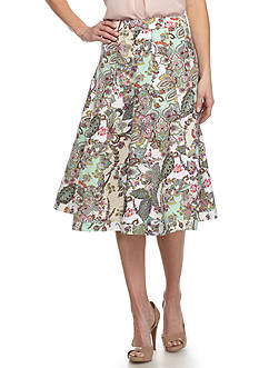 Grace Elements Paisley Seamed Skirt