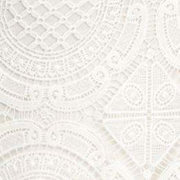 Women: Grace Elements Dresses: Ivory Grace Elements Scuba Crochet Dress