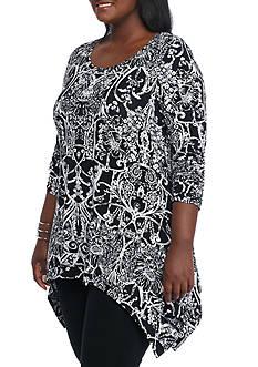 Grace Elements Plus Size Wrought Trellis Tunic