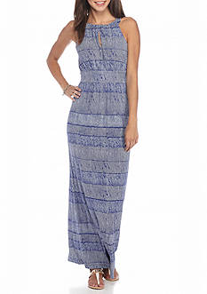 Grace Elements Striped Halter Dress