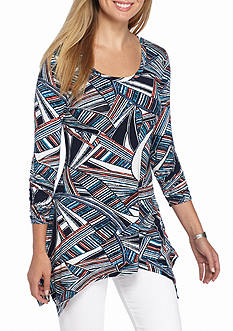 Grace Elements Frond Stripe Sharkbite Top