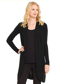 Premise Cashmere Open Front Duster Cardigan