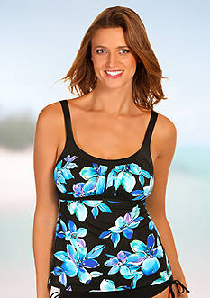 Caribbean Joe Martinique Framed Peasant Tankini