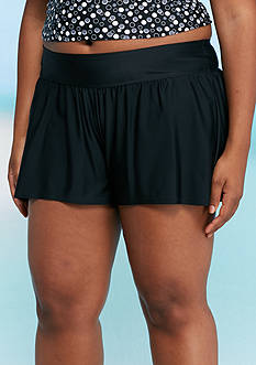Caribbean Joe Plus Size Solid Swim Shorts