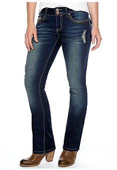 YMI Double Button Front Slim Boot Cut Jean