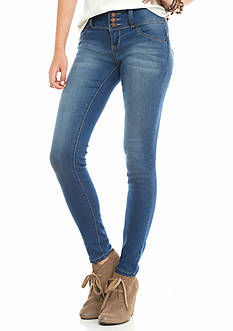 YMI Button Down Skinny Jeans