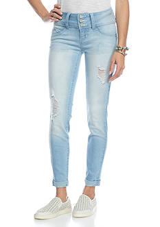 YMI Wanna Betta Butt Cuffed Wide Waist Jeans
