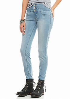YMI 3 Button High Waist Skinny Jeans