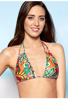 Ralph Lauren Blue Label Bahama Paisley Loop Strap Halter top