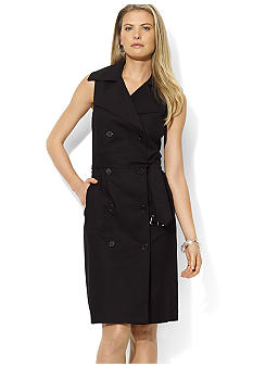 Lauren Ralph Lauren Stretch Twill Trench Dress