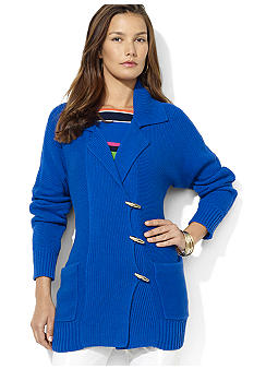 Lauren Ralph Lauren Long-Sleeved Cotton-Blend Toggle Cardigan