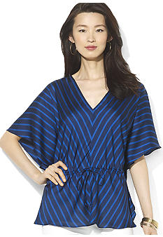 Lauren Ralph Lauren Kimono-Sleeved Striped Blouse