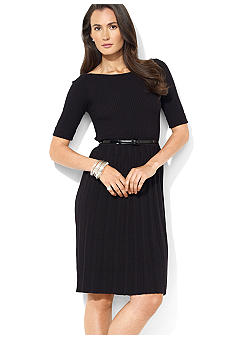Lauren Ralph Lauren Elbow-Sleeved Boatneck Dress
