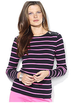 Lauren Ralph Lauren Long-Sleeved Zippered Crewneck