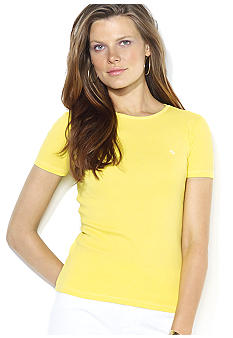 Lauren Ralph Lauren Short-Sleeved Cotton Crewneck Tee