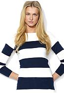 Lauren Ralph Lauren Striped Cotton Boatneck