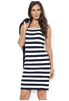 Lauren Ralph Lauren Button-Down Striped Dress