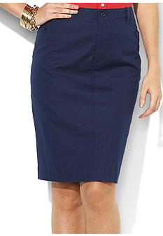 Lauren Ralph Lauren Straight Cotton Skirt
