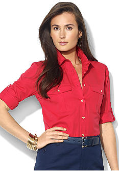 Lauren Ralph Lauren Twill Rolled-Sleeve Workshirt