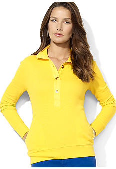 Lauren Ralph Lauren Long-Sleeved French-Rib Henley