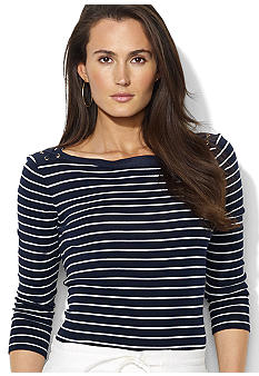 Lauren Ralph Lauren Combed Cotton Boatneck Sweater