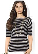 Lauren Ralph Lauren Cotton Boatneck Top