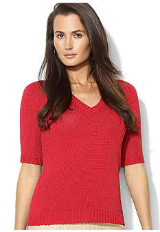 Lauren Ralph Lauren Cropped Raglan-Sleeved Sweater