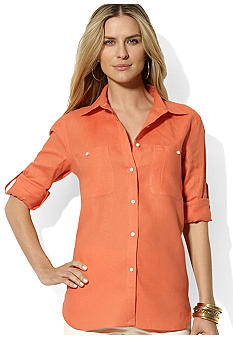 Lauren Ralph Lauren Linen Roll-Sleeved Shirt