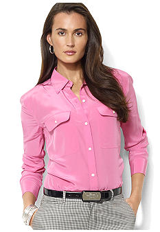 Lauren Ralph Lauren Long-Sleeved Silk Workshirt