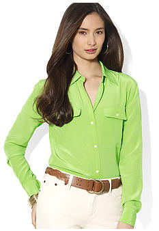 Lauren Ralph Lauren Silk Workshirt