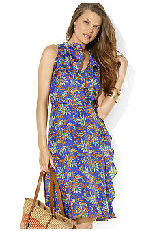 Lauren Ralph Lauren V-neck Wrap Dress