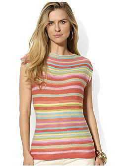 Lauren Ralph Lauren Striped Linen Boatneck Sweater