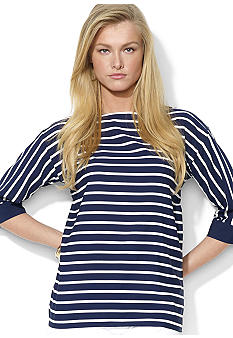 Lauren Ralph Lauren Striped Boatneck Top