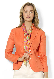 Lauren Ralph Lauren Three-Button Linen Blazer