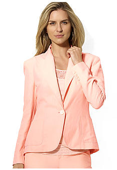 Lauren Ralph Lauren Silk-Linen One-Button Jacket