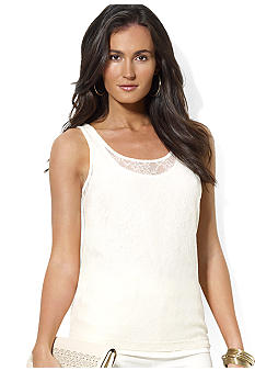 Lauren Ralph Lauren Double-Layered Lace Tank