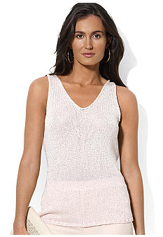 Lauren Ralph Lauren Sleeveless V-Neck Sequined Sweater